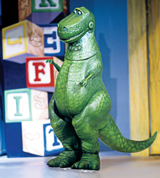 Disney/Pixar's Toy Story 3 on ice; Rex from Toy Story