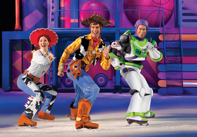 Disney on Ice: Toy Story 3; Woody, Jessie, and Buzz Lightyear from Toy Story