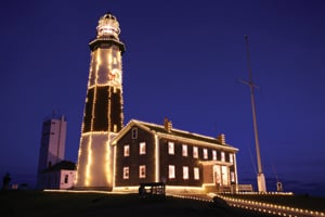 Montauk Point Lighthouse and Museum, holiday; lighting the lighthouse, long island