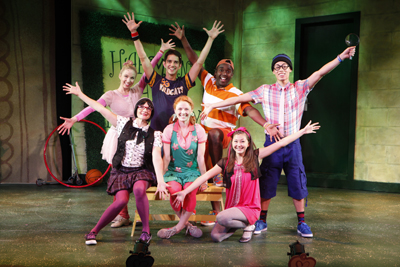 The cast of Freckleface Strawberry the Musical at New World Stages