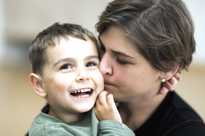 mom and son; autistic child and parent