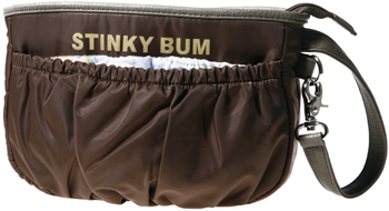 The Momma Couture<sup>TM</sup> Stinky Bum bag, brown, wristlet