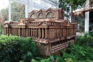A Pennsylvania Station replica at the New York Botanical Garden's Holiday Train Show