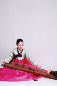 Yewon Kim plays the gayageum