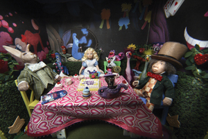 Alice in Wonderland miniatures exhibit