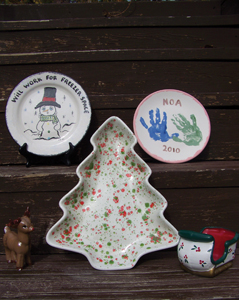 Jill's Ceramics, holiday projects; christmas ceramics
