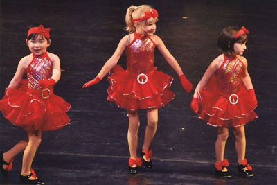 Debi's Dance students in a holiday show