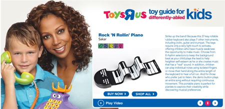 Toys R Us Toy Guide for Differently-Abled Kids