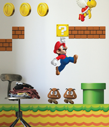 Super Mario Bros Re-Stik wall decals by Blik