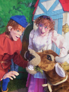 Jack and the Beanstalk performed by puppets, marionettes