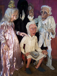 A Christmas Carol puppets; Scrooge, a Christmas Tale Marionette Show