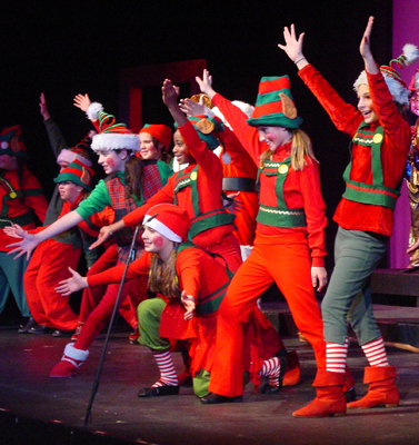 "Students from The Crystal Theater perform ""Babes in Toyland."""
