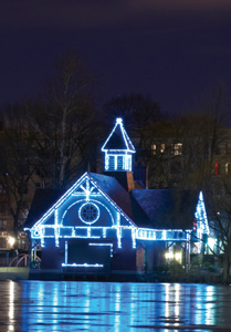 The Charles A. Dana Discovery Center in Central Park; Victorian Holiday Lighting
