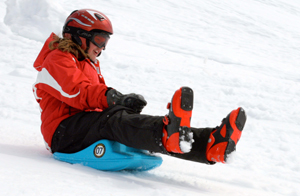 zipfly mini luge sled