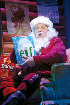George Wendt as Santa in Elf: The Musical