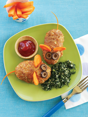 "turkey and rice ""mice"" recipe from weight watchers; easy recipe for kids"