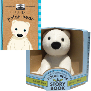 Green Start Little Polar Bear storybook and plush set