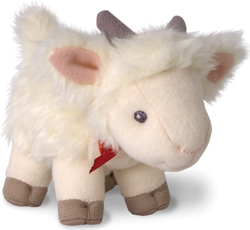 Gertie the goat; cute plush goat, stuffed animal