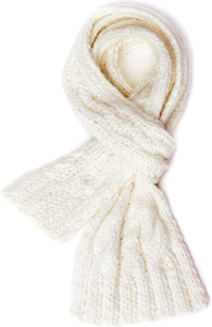 American Living chunky cable knit scarf in white