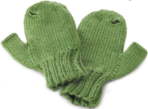 iMitt mittens in kiwi, from uncommongoods.com