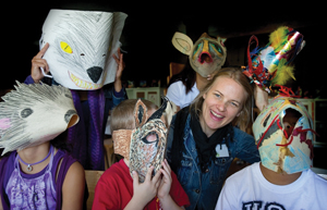 Hibernation Ball; Wave Hill; kids in animal masks