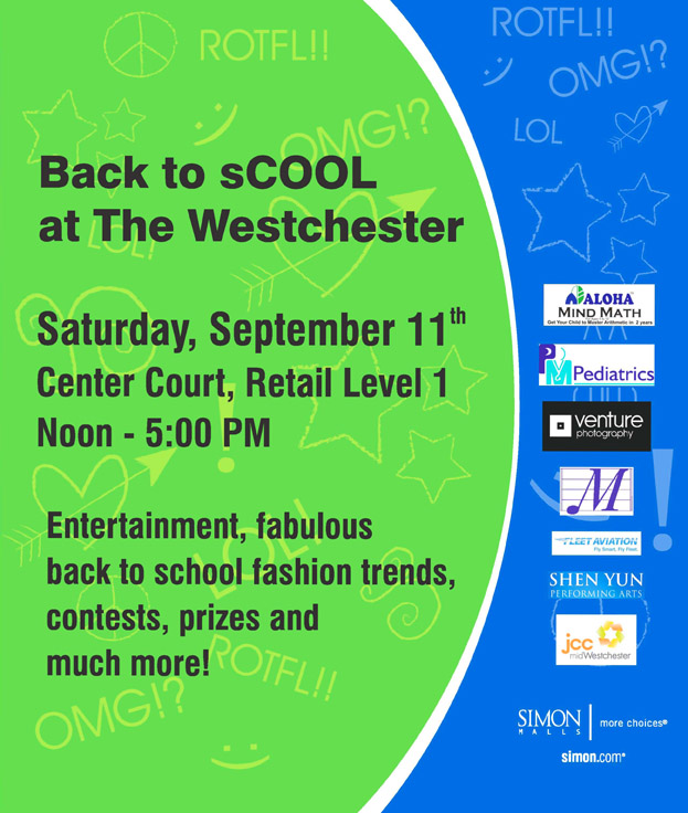 BAck to School at the Westchester Mall
