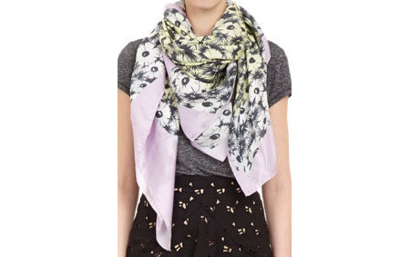 Kenzo silk-and-cashmere scarf