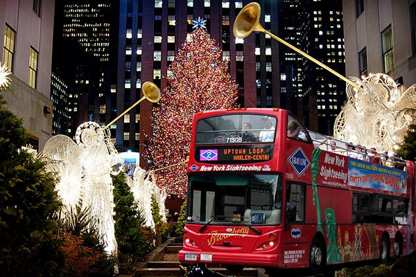 Gray Line NY Double Decker Sightseeing Holiday Lights Tour