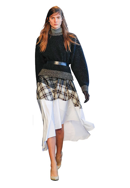 Theory flannel plaid skirt