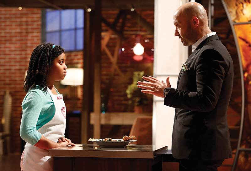 adaiah stevens and joe bastianich on masterchef junior