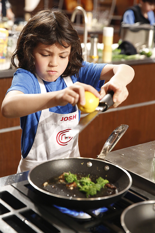 josh reisner cooking on masterchef junior