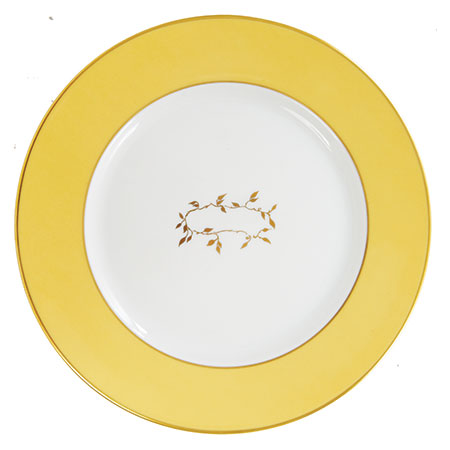 Cathy Waterman Clean Plate Club gold-rimmed China