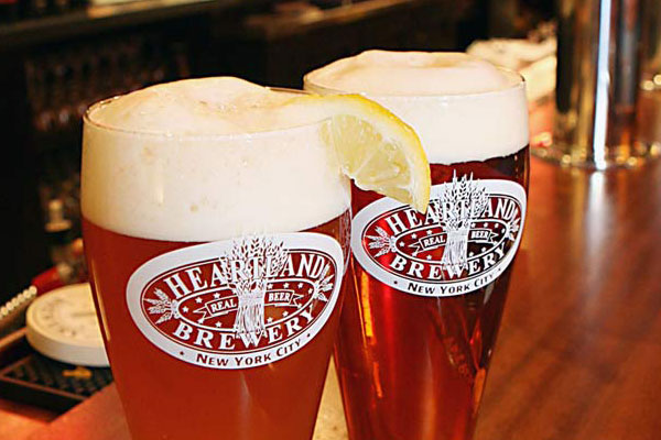 Heartland Brewery gift cards and beer