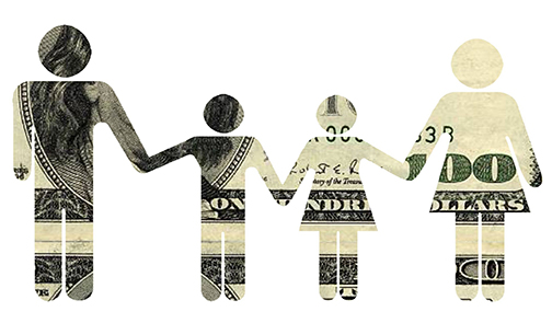 paper family made of money