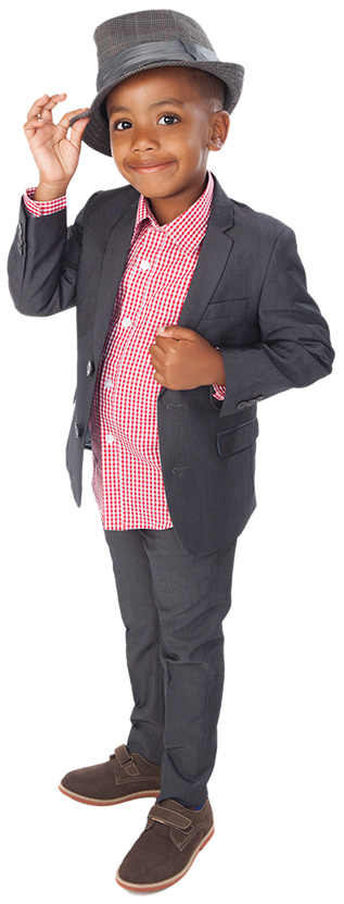 young boy gentleman tipping hat