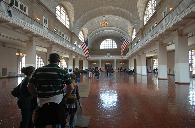 ellis island museum great hall
