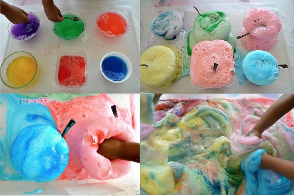 homemade foaming cleanser with kids