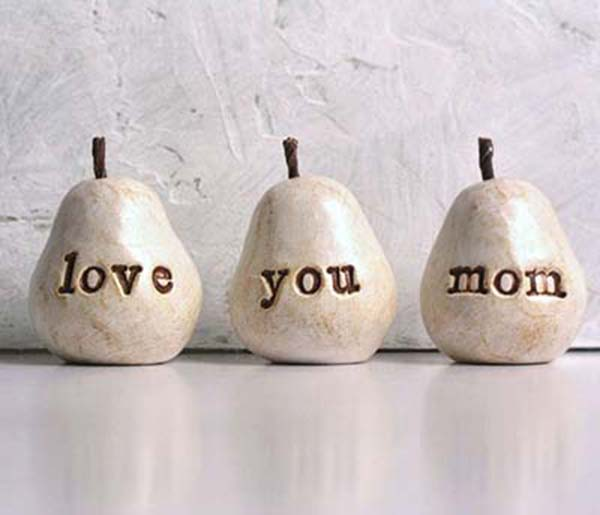Etsy I love you mom pears gift