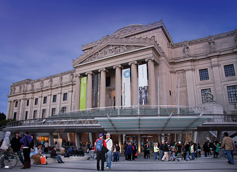 front of brooklyn museum