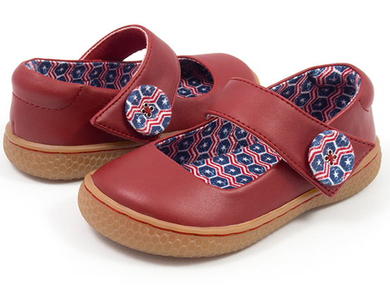 cute girl's Livie and Luca shoes for Fourth of July