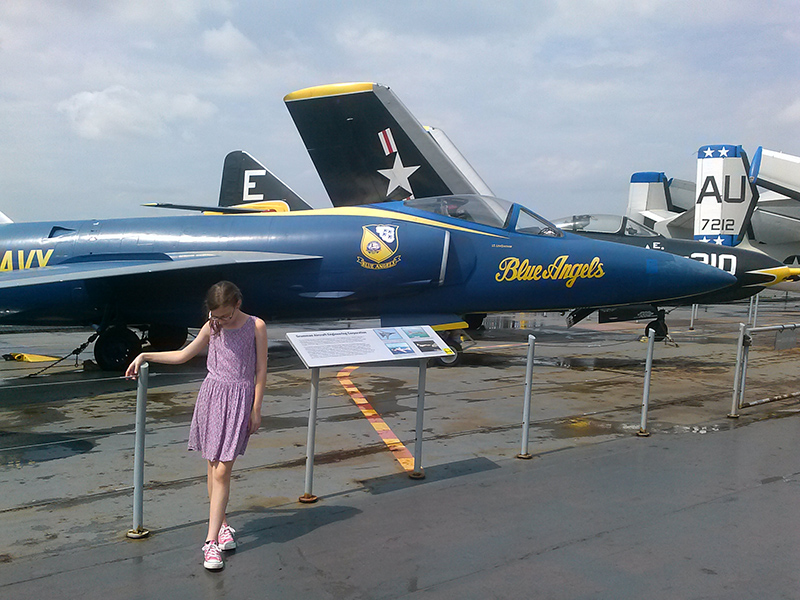 flight deck blue angels intrepid