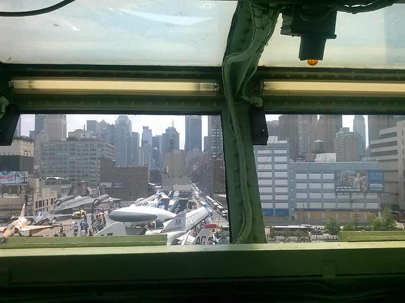 view from top of intrepid nyc