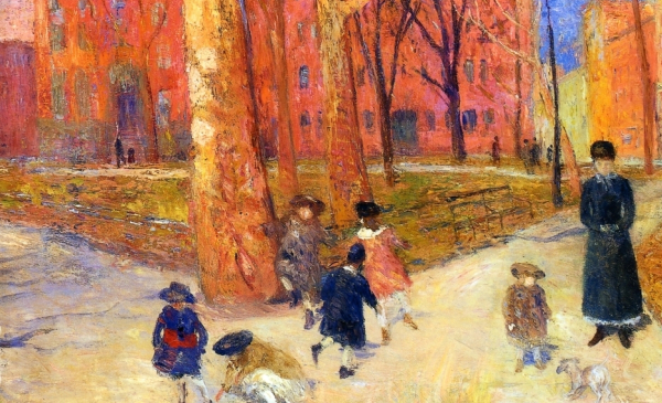 glackens washington square park