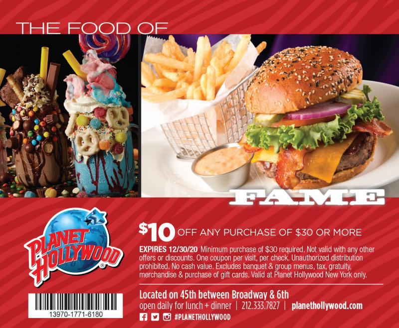 planet hollywood nyc coupon