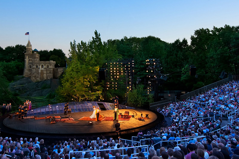 shakespeare in the park central park