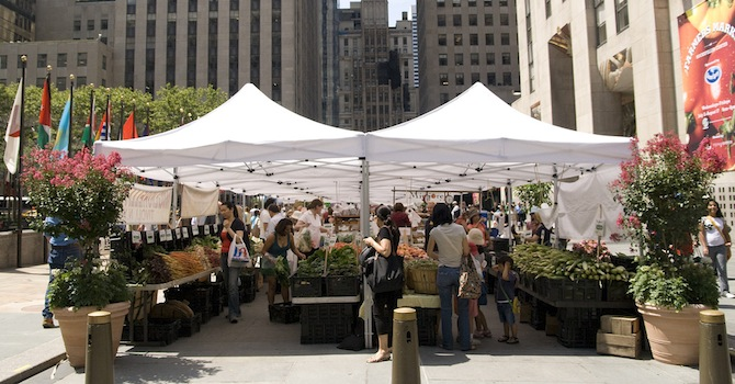 Visit the Farmer's Market at Rockefeller Plaza