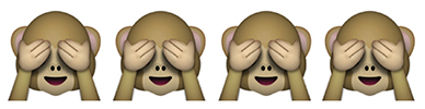 see no evil monkey emojis