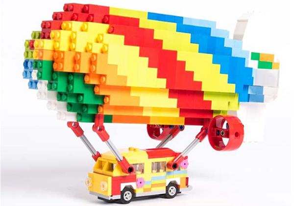 hippie van legos