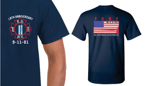 18th anniversary 9 11 shirts fdny