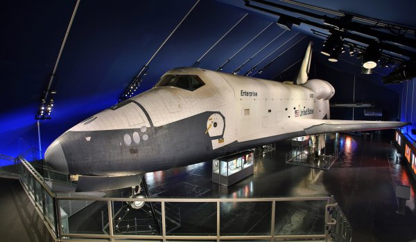space shuttle at intrepid